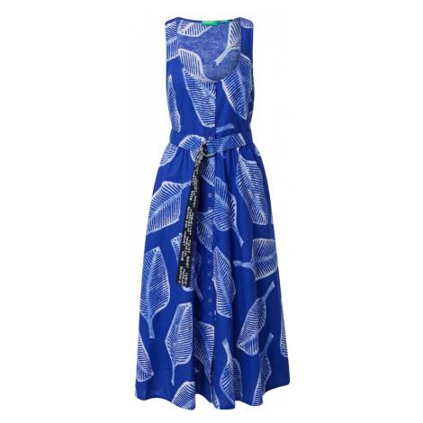 UNITED COLORS OF BENETTON Sukienka koszulowa niebieski / biały / czarny