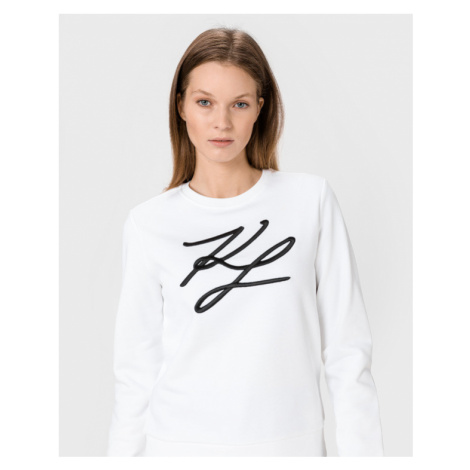 Karl Lagerfeld KL Signature Bluza Biały