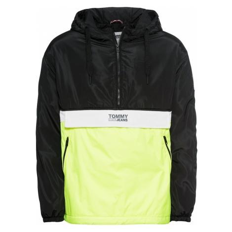 Tommy Jeans Kurtka przejściowa 'TJM COLORBLOCK POPOVER' żółty / czarny / biały Tommy Hilfiger