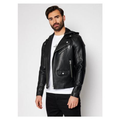 Calvin Klein Jeans Kurtka skórzana J30J317320 Czarny Regular Fit