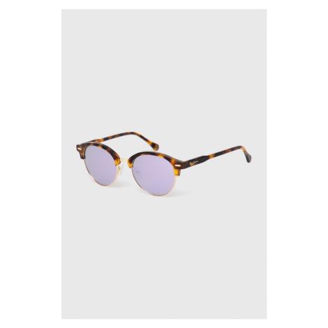Pepe Jeans - Okulary przeciwsłoneczne Round Clubmaster Demi