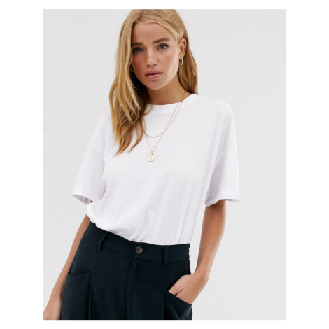 Pull&Bear oversized round neck t shirt in white Pull & Bear