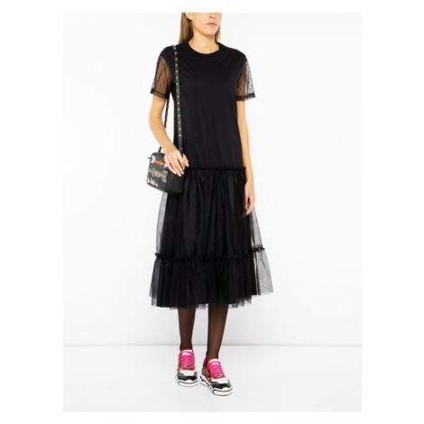 Red Valentino Sukienka koktajlowa SR3MJ01U Czarny Regular Fit