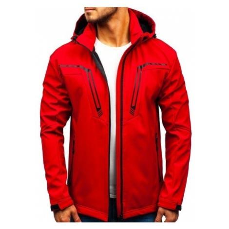 Kurtka męska przejściowa softshell czerwona Denley 5427