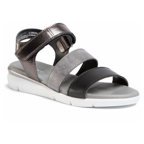 Sandały MARCO TOZZI - 2-28526-24 Black Comb 098