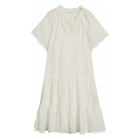 MANGO Letnia sukienka 'Bohochic' nakrapiany biały