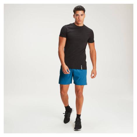 Męski klasyczny T-shirt z okrągłym wycięciem z przodu Luxe MP – czarny