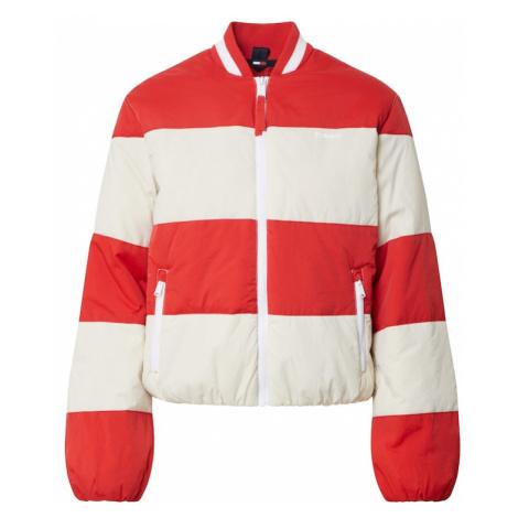 Tommy Jeans Kurtka przejściowa biały / czerwony Tommy Hilfiger