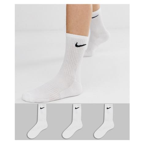 Nike Training 3 pack crew socks in white
