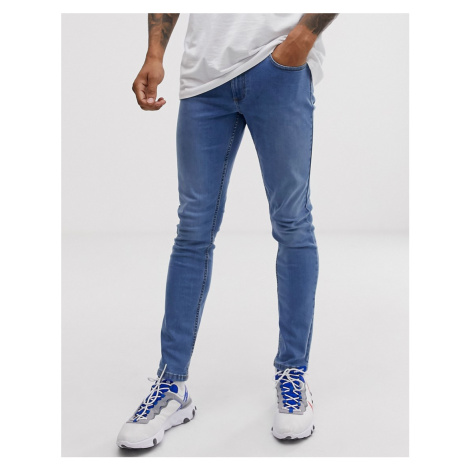 River Island skinny stretch jeans in light wash blue