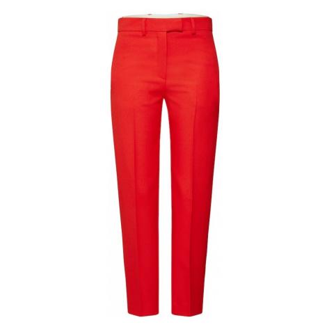 Calvin Klein Spodnie w kant 'UNIFORM TWILL CIGARETTE PANT' czerwony