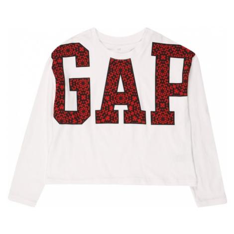 GAP Koszulka biały / czarny / czerwony