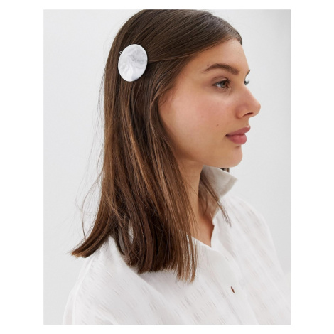 ASOS DESIGN barrette hair clip with marbled effect