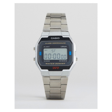 Casio A163WA-1QES digital bracelet watch in silver