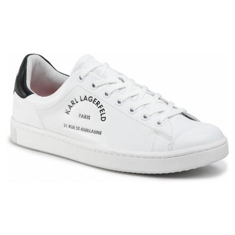 Sneakersy KARL LAGERFELD - KL51241 White Lthr