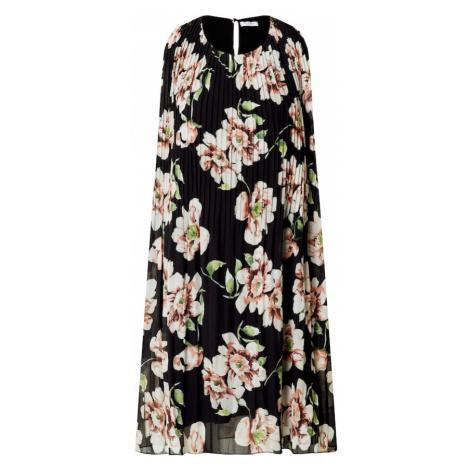 ZABAIONE Sukienka 'Paloma' czarny / biały / oliwkowy / pastelowa czerwień / koralowy