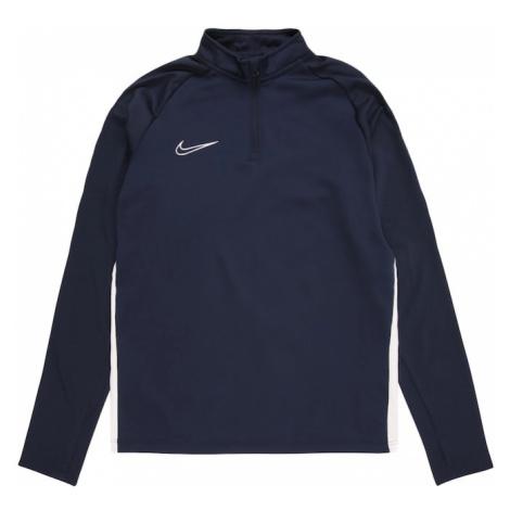 NIKE Bluza sportowa biały / atramentowy