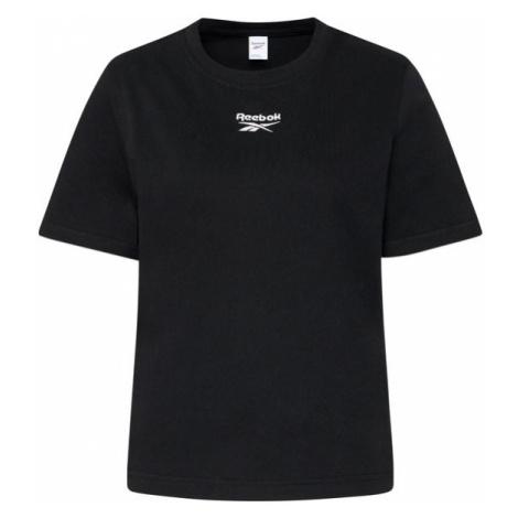 Reebok T-Shirt Small Logo GJ4971 Czarny Relaxed Fit
