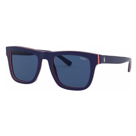 POLO RALPH LAUREN Okulary przeciwsłoneczne 'AZETAT MAN SONNE' ciemny niebieski / niebieski