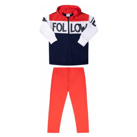 Primigi Komplet bluza i legginsy Happy Shopping 45182511 Czerwony Regular Fit