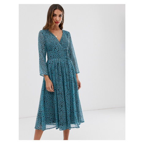 Y.A.S pleated tea dress