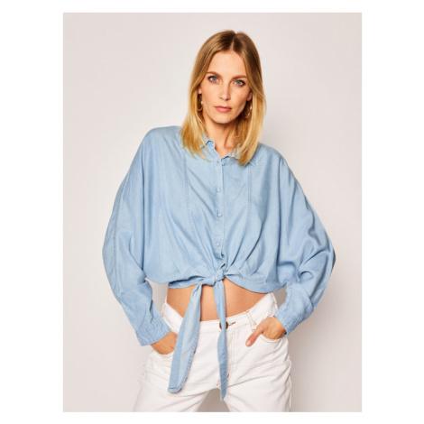 Guess Koszula W02H30 D3ZW2 Niebieski Regular Fit
