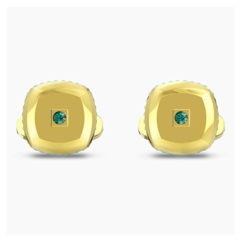 Spinki do mankietów Theo Earth Element, zielone, w odcieniu złota Swarovski