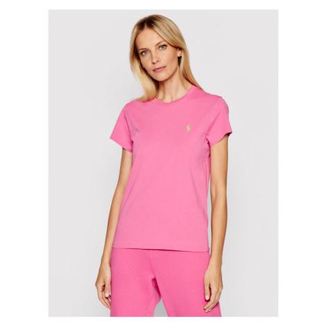Polo Ralph Lauren T-Shirt Ssl 211734144045 Różowy Regular Fit