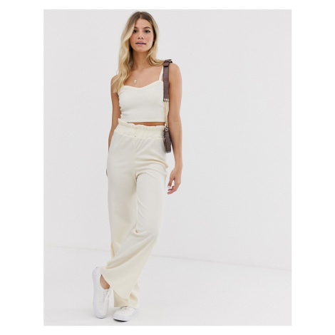 Glamorous relaxed wide leg trousers in fine knit co-ord