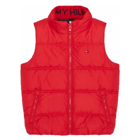 TOMMY HILFIGER Kamizelka Solid KB0KB05983 M Czerwony Regular Fit