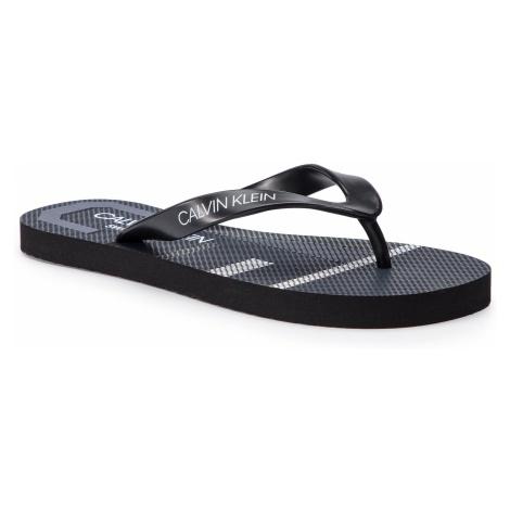 Japonki CALVIN KLEIN SWIMWEAR - Ff Sandals KM0KM00339 Blue Shadow 470