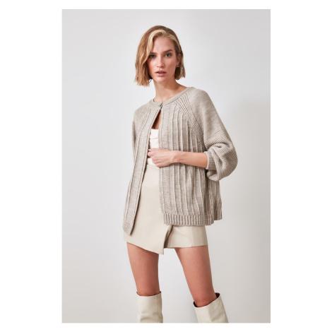 Trendyol Stone One Button Knitwear Cardigan