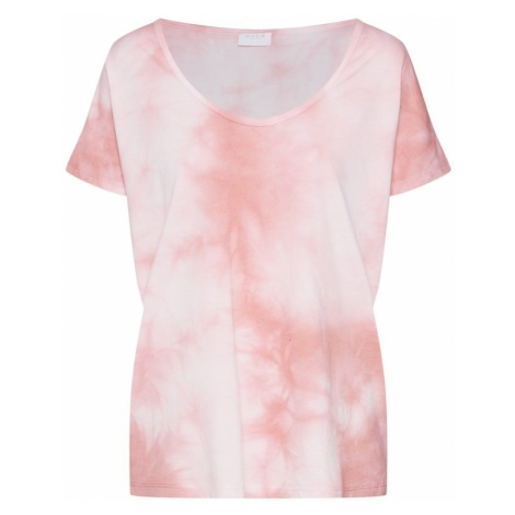 VILA Koszulka 'VIDREAM TIE DYE T-SHIRT' różowy pudrowy