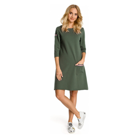 Made Of Emotion Woman's Dress M343 Military