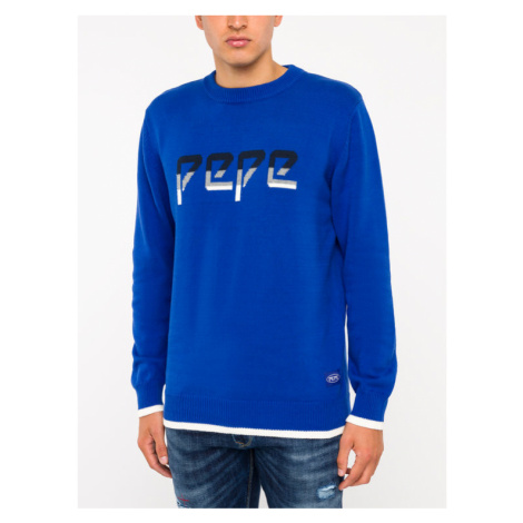 Pepe Jeans Sweter Luis PM701956 Granatowy Regular Fit