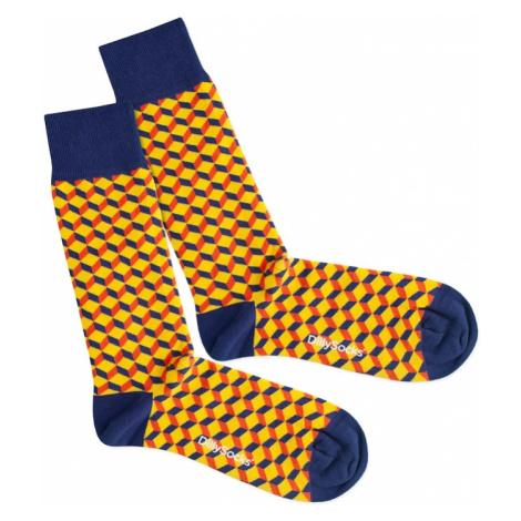 DillySocks Skarpety 'Vivid Dice' niebieski / żółty / czerwony