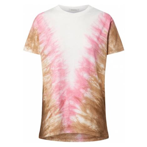 Ragdoll LA Koszulka 'Tie Dye Vintage' biały / różowy