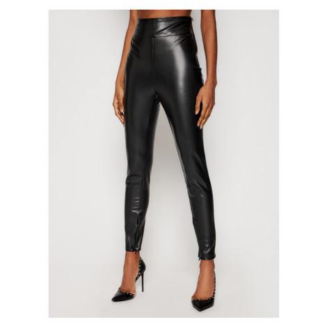 Guess Spodnie z imitacji skóry Priscilla W1RB25 WBG60 Czarny Slim Fit