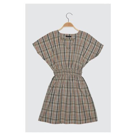 Trendyol Multicolored Square Gipe Szczegółowa sukienka