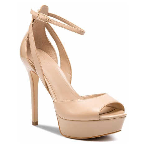 Sandały GUESS - Laurele FL6LRE LEA03 NATU