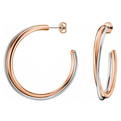 Calvin Klein Kolczyki Srebrny Beżowy