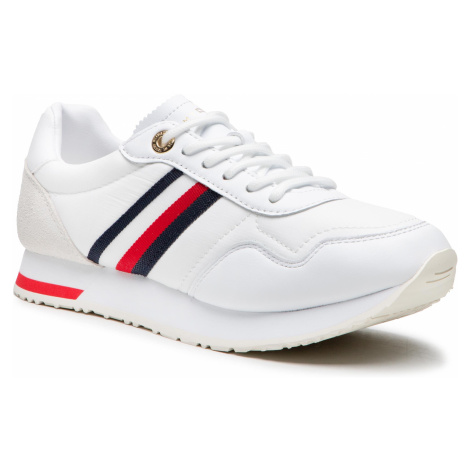 Sneakersy TOMMY HILFIGER - Casual City Runner FW0FW05560 White YBR