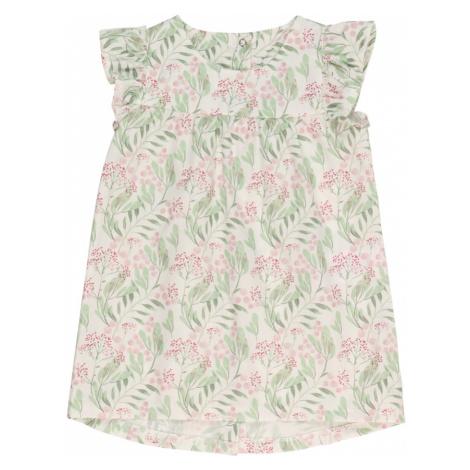 KANZ Sukienka biały / jasnozielony / różowy pudrowy