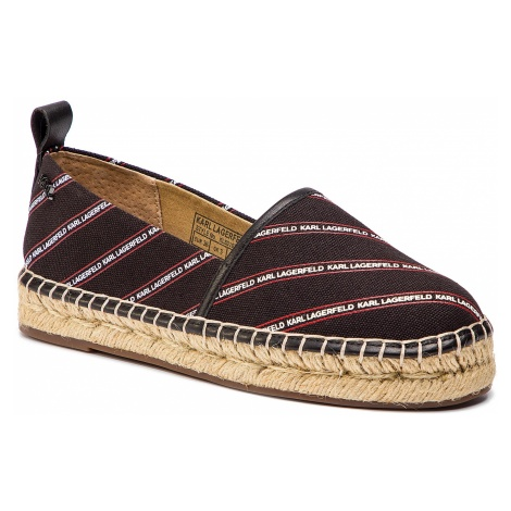 Espadryle KARL LAGERFELD - KL80107 Black Canvas