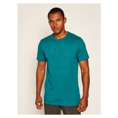 Jack Wolfskin T-Shirt 365 T 1806621 Zielony Regular Fit