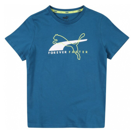 PUMA Koszulka funkcyjna 'Alpha' biały / jasnozielony / błękitny