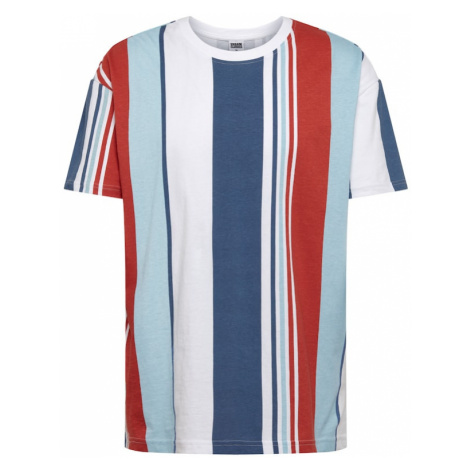 Urban Classics Koszulka biały / czerwony / jasnoniebieski / ciemny niebieski
