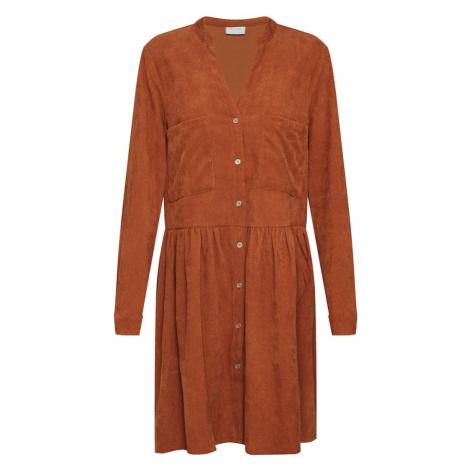 VILA Sukienka koszulowa 'VIERAN L/S DRESS' brązowy