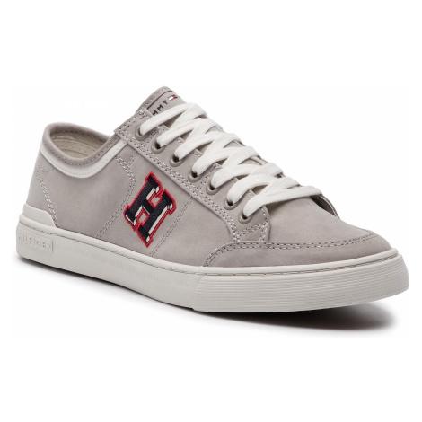 Tenisówki TOMMY HILFIGER - Core Corporate Seasonal Sneaker FM0FM02168 Cobblestone 068