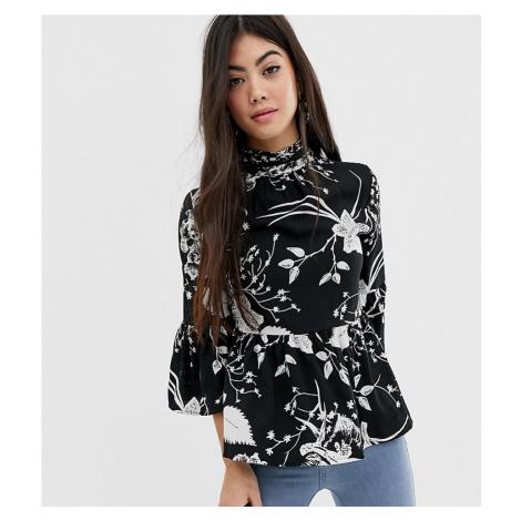 Vero Moda Petite high neck smock blouse